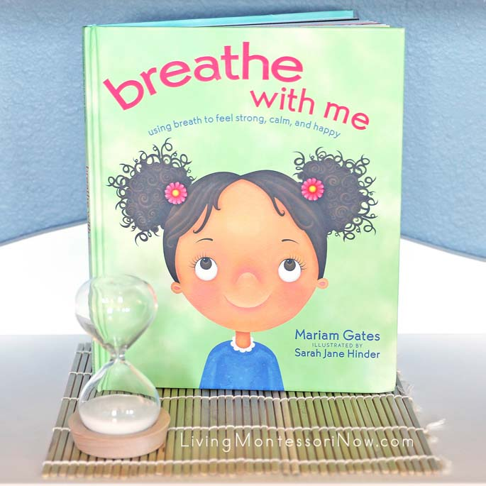 breathe with me book with 5-minute sand timer