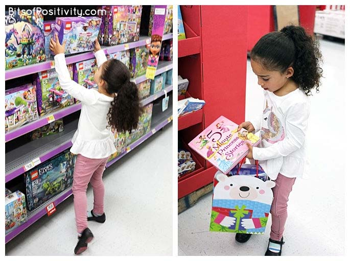 Choosing a LEGO Friends Kit and a Book for Our Toy Drive