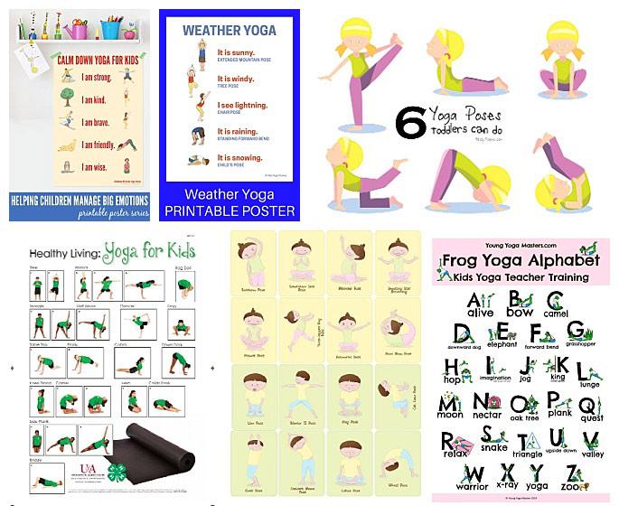 image regarding Free Printable Yoga Poses identify Baby Yoga Poses Printable