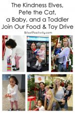 The Kindness Elves, Pete the Cat, a Baby, and a Toddler Join Our Food and Toy Drive