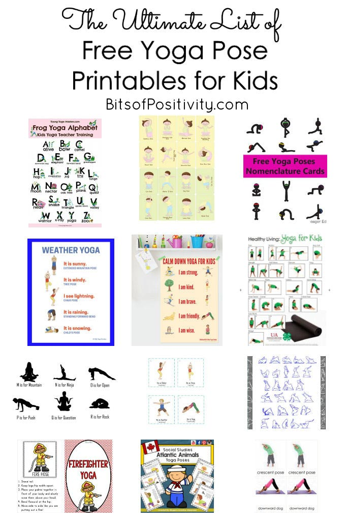 The Ultimate List of Free Yoga Pose Printables for Kids {Mindfulness ...