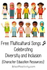 Free Multicultural Songs Celebrating Diversity and Inclusion {Character Education Resources}