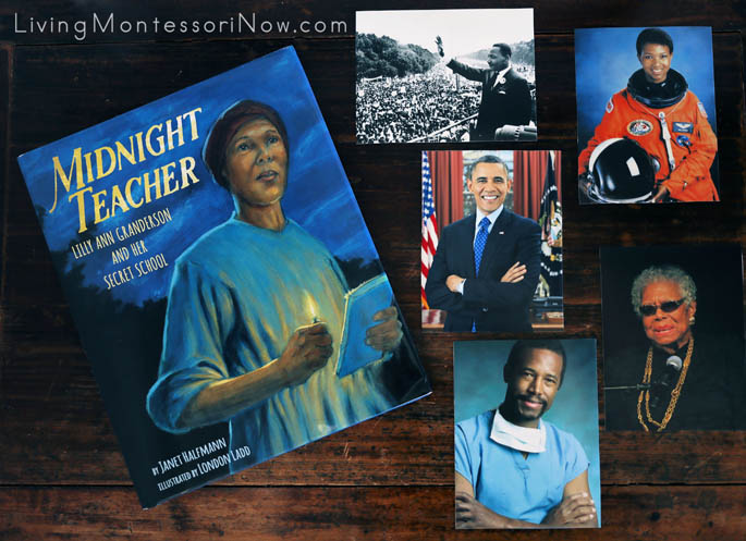 Midnight Teacher Book with Photographs of Famous Black Americans Whose Work Requires a High Level of Education