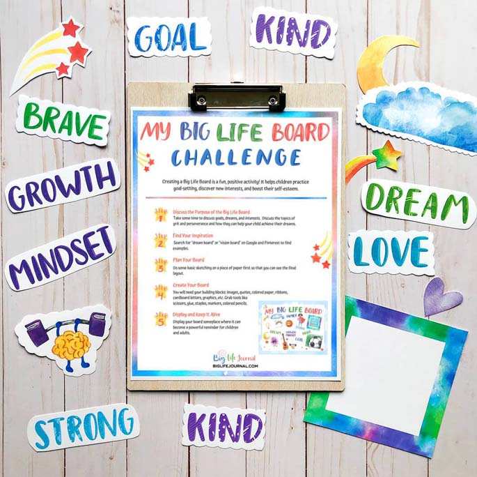 Printables from the Self-Esteem and Confidence Kit from Big Life Journal