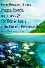 Free Relaxing Ocean Images, Sounds, and Music for Kids and Adults {Mindfulness Resources}