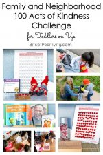 Family and Neighborhood 100 Acts of Kindness Challenge for Toddlers on Up