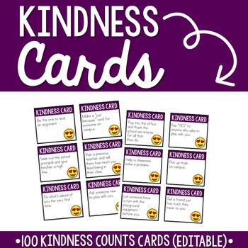 Kindness Cards by Kelley Dolling - Teacher Idea Factory at Teachers Pay Teachers