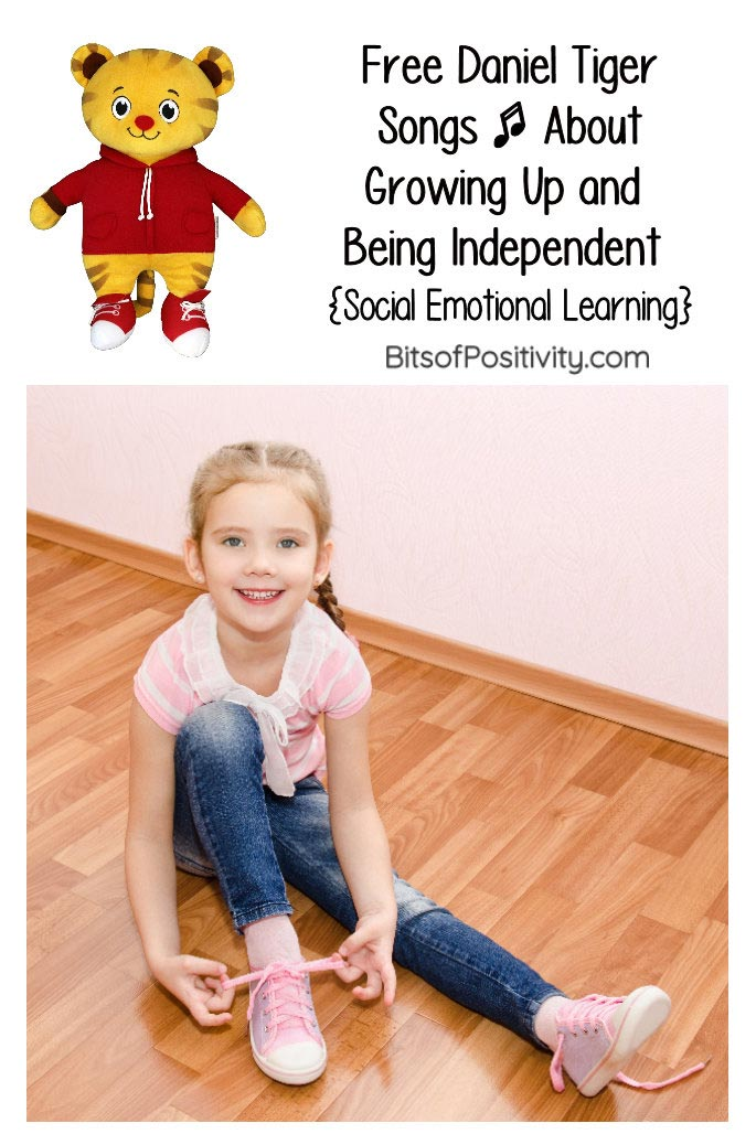 Free Daniel Tiger Songs About Growing Up and Being Independent {Social Emotional Learning}