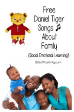 Free Daniel Tiger Songs About Family {Social Emotional Learning}